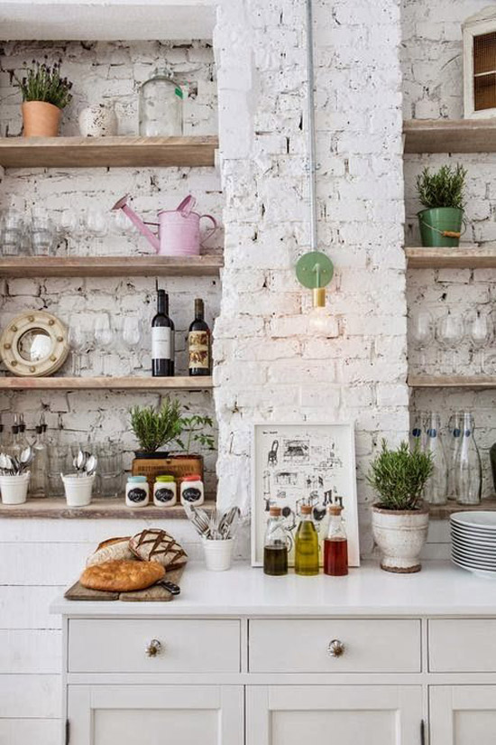 Witte Keuken Donkere Muur : In combinatie met frisse kleuren geeft het een leuke, aparte en