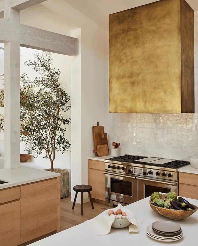 keukentrends 2021 gouden afzuigkap