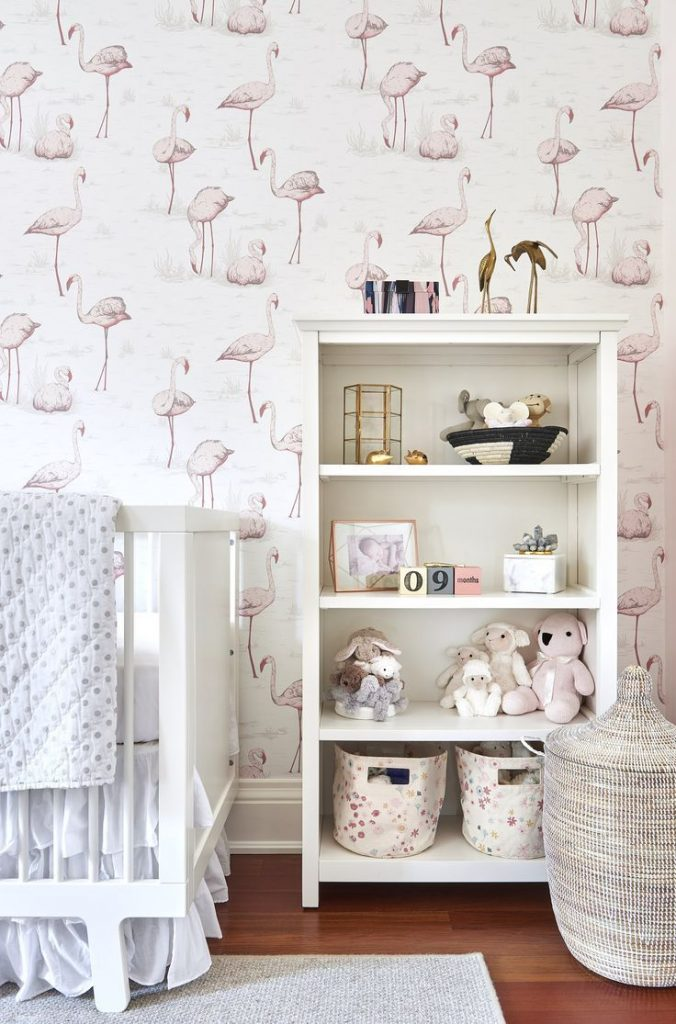 kinderkamer behang cole son flamingo