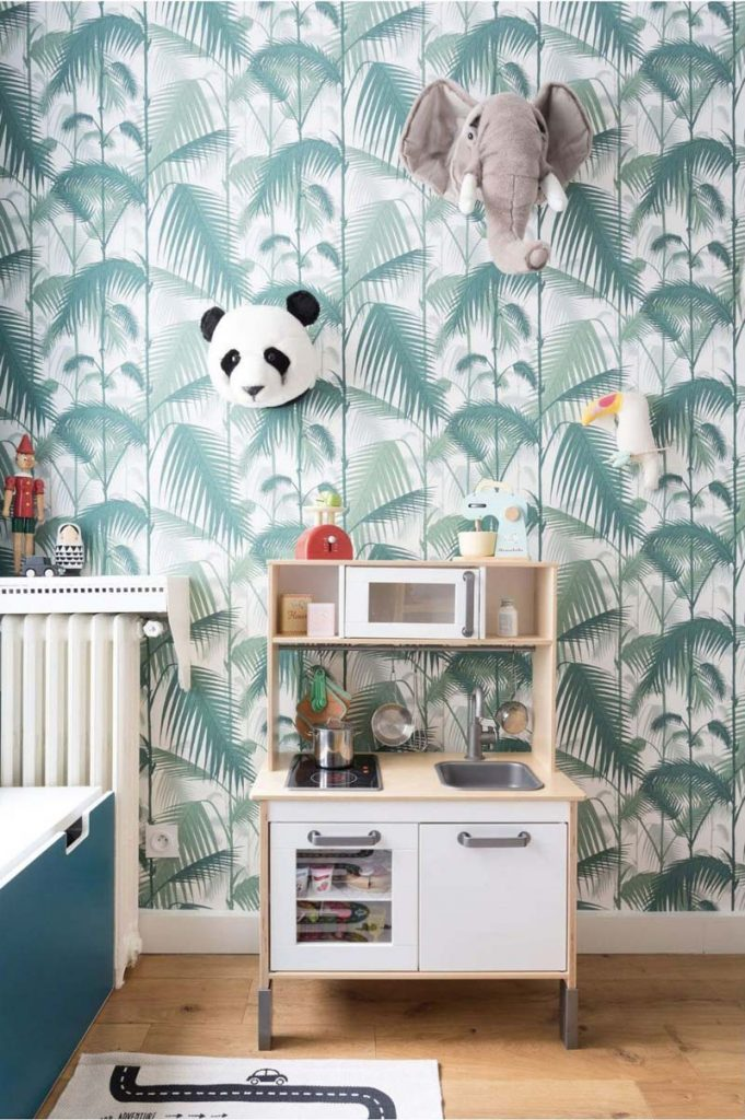 kinderkamer behang cole son palm jungle