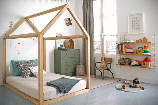 Een huis in de kinderkamer!