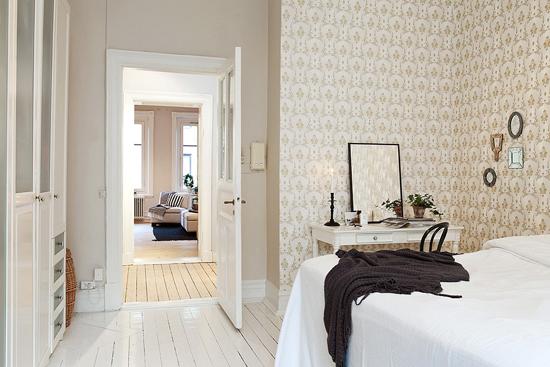 Slaapkamer inrichting met klassieke details