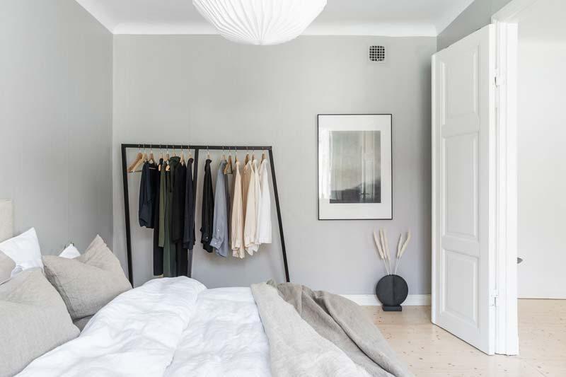 kledingrek in slaapkamer