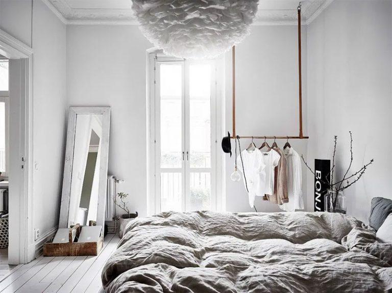 kledingrek plafond slaapkamer