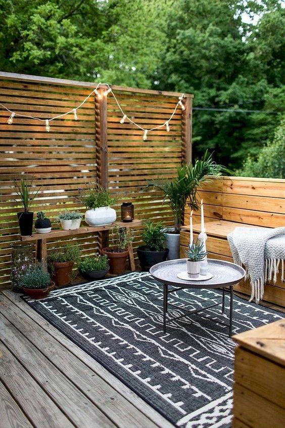 Kleine bohemian tuin