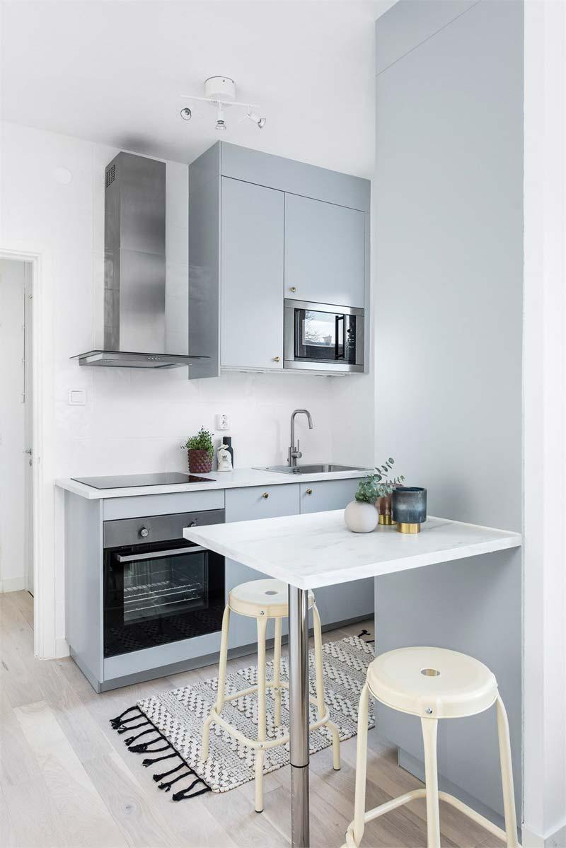kleine keuken schaal