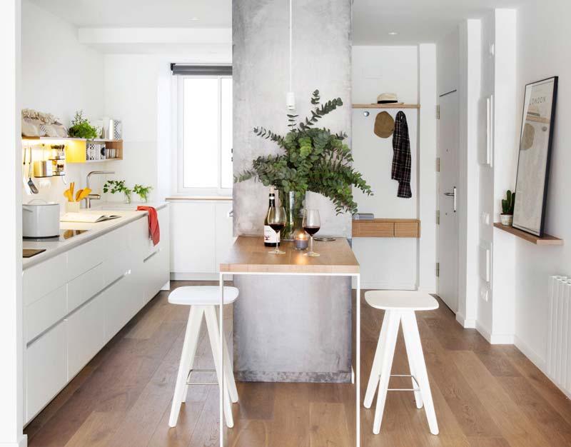 kleine keuken tips combineren met hal