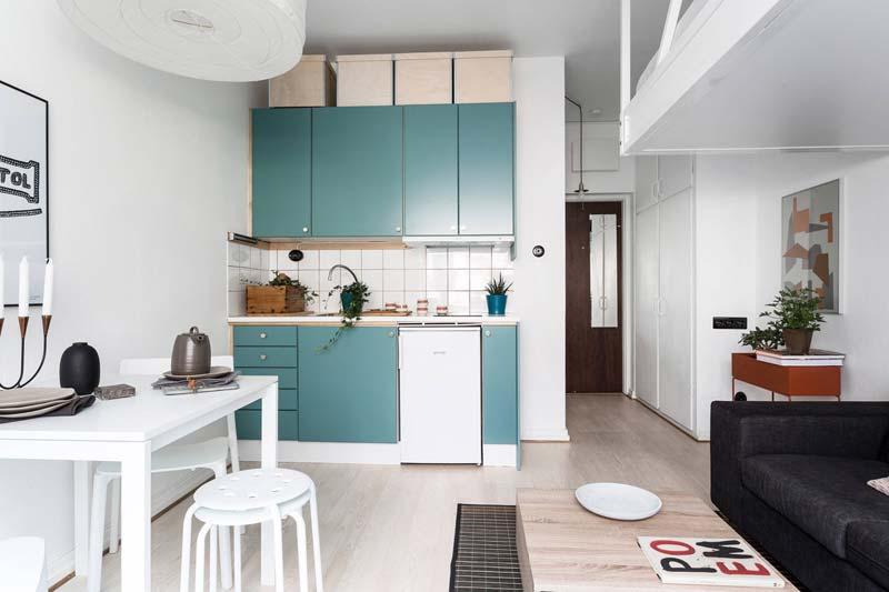 kleine keuken tips opbergdoze op keukenkasten