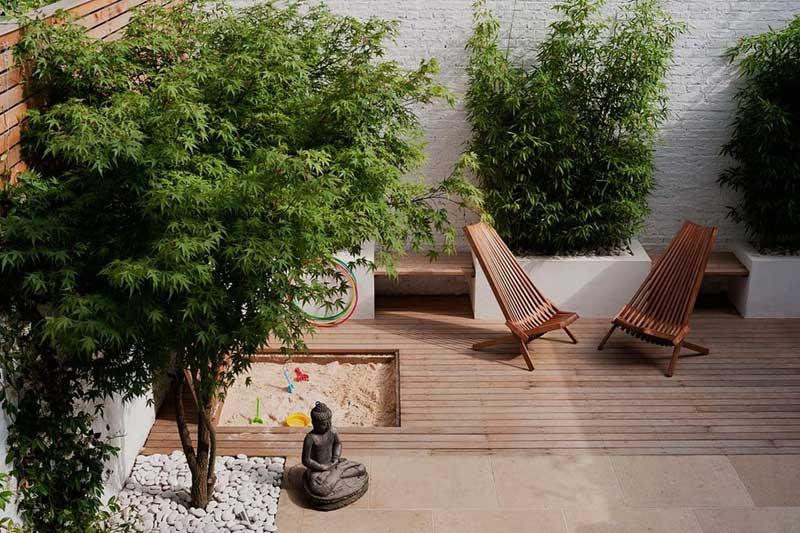 Kleine kindvriendelijke tuin