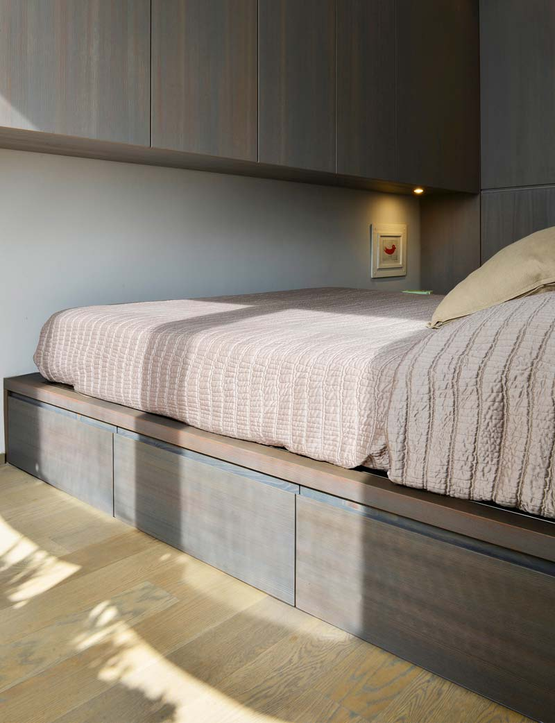 kleine slaapkamer maatwerk meubels
