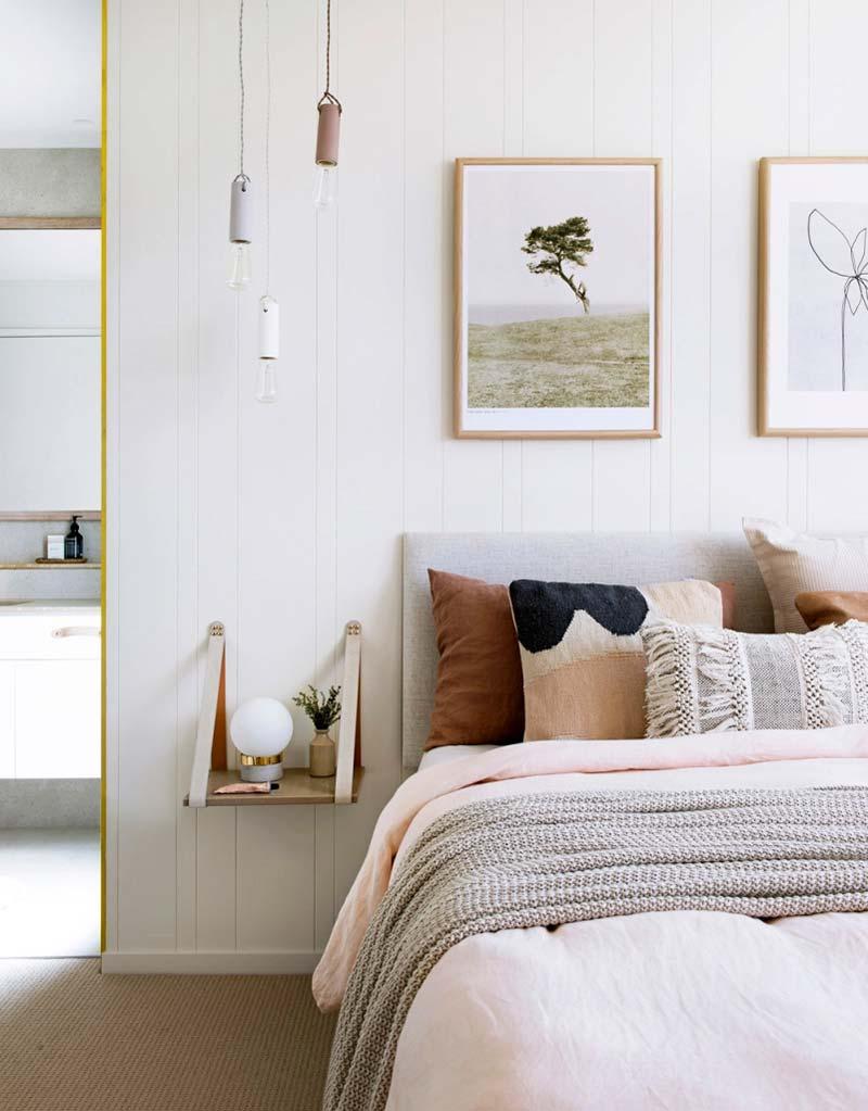 kleine slaapkamer tips zwevend nachtkastje