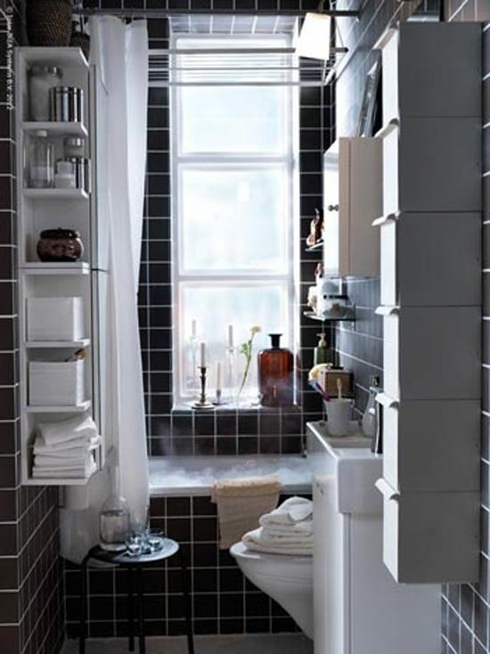 Inrichten van een kleine badkamer wooninspiratie - Deco kleine badkamer met bad ...