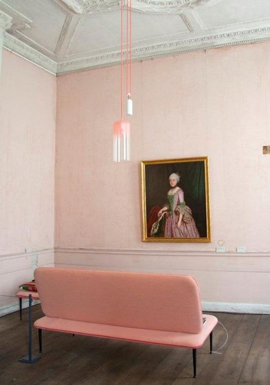 Pastel roze voor de inrichting