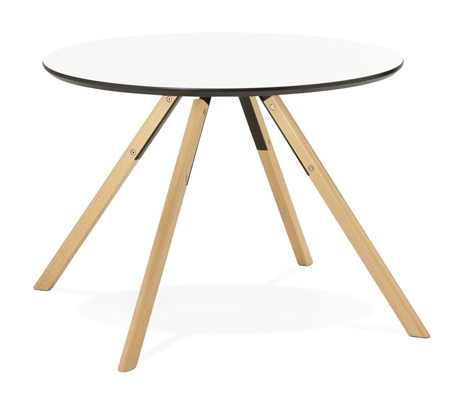 kokoon design ronde eettafel ivory