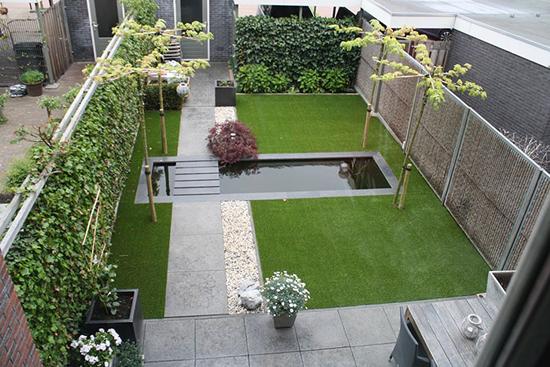 Kunstgras de oplossing voor verschillende problemen for Voorbeeld tuinen kijken