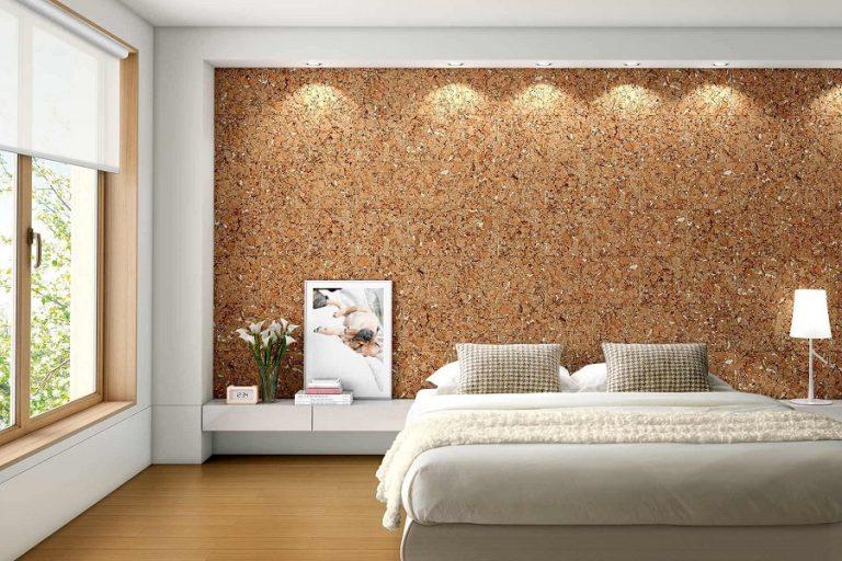 Kurk muur slaapkamer