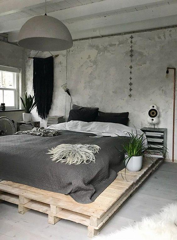 Laag bed houten paletten