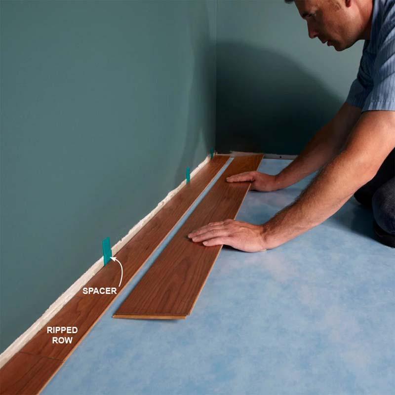 laminaat leggen tips afstand muur