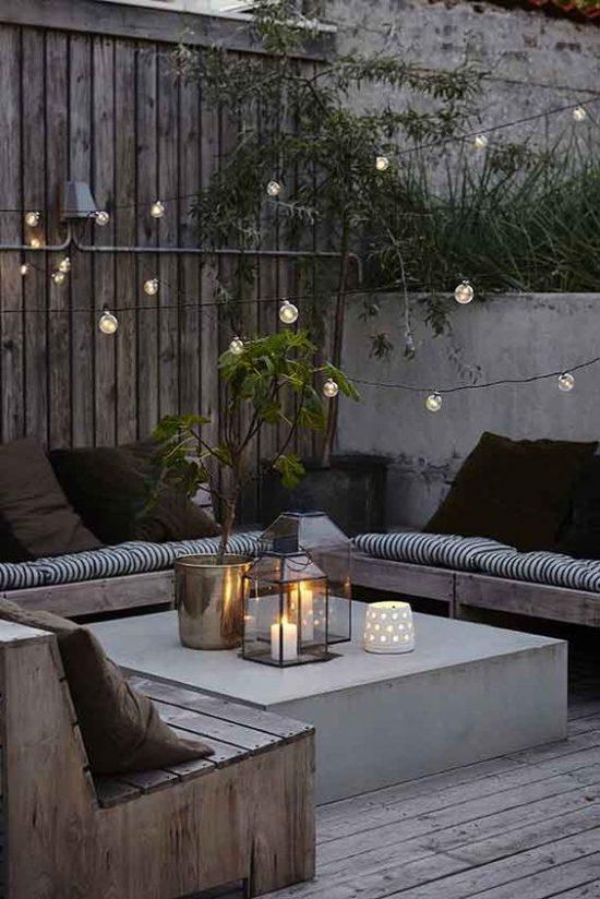 Lampenslinger in de tuin