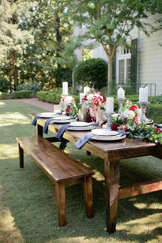 Lekker tafelen in de tuin