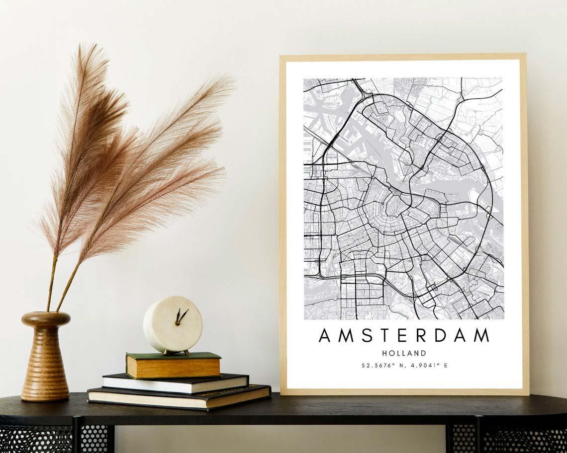 leuke housewarming cadeau ideeen poster stad