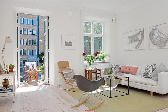 Zweedse appartement inrichting