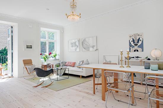 Meer Zweedse Inspiratie : Zweedse appartement inrichting wooninspiratie