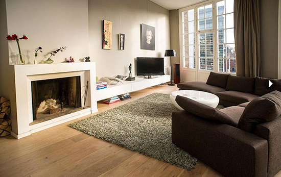 Wooninrichting loft appartement in amsterdam wooninspiratie - Een kleine rechthoekige woonkamer geven ...