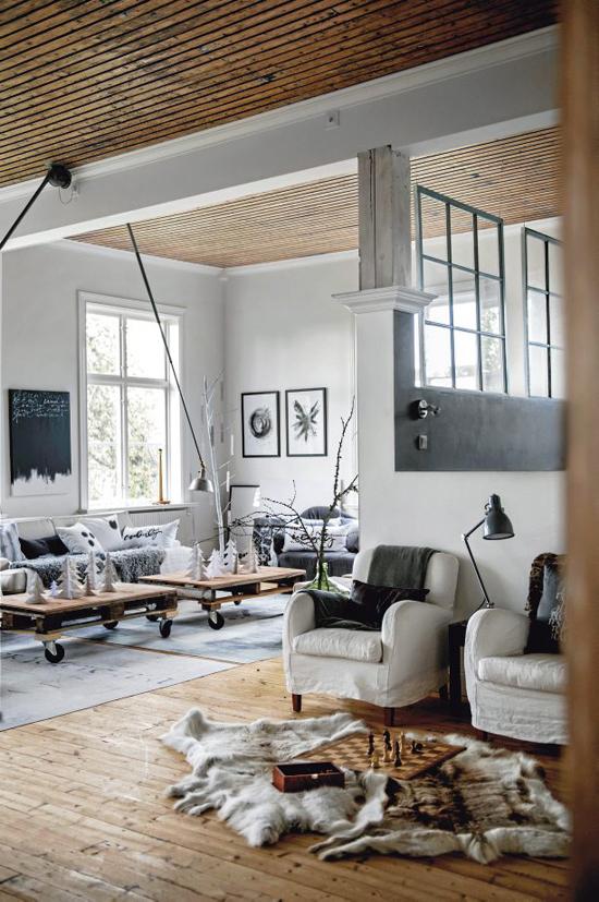woonkamerinrichting in een loft | wooninspiratie, Deco ideeën