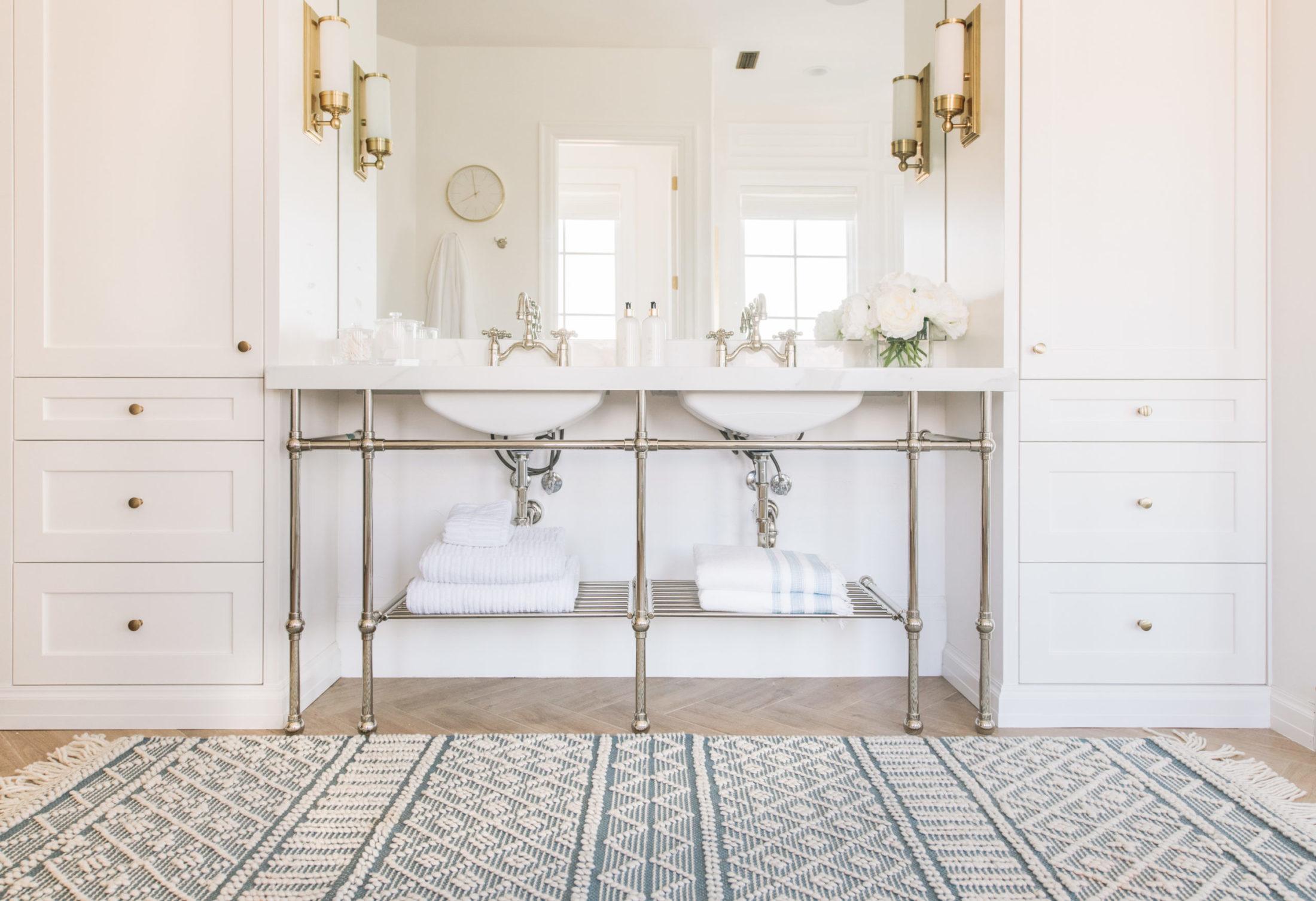 luxe badkamer dubbele wastafels kasten op maat