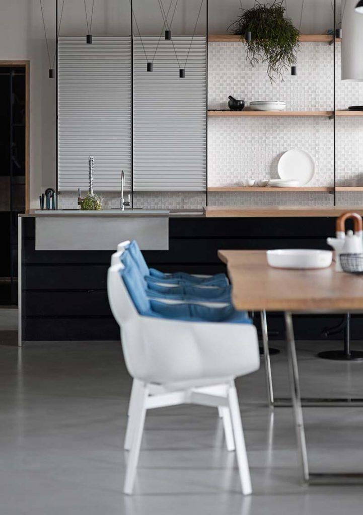 modere keuken betonvloer