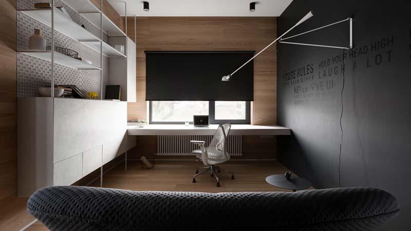 modern thuiskantoor flos 265 wandlamp