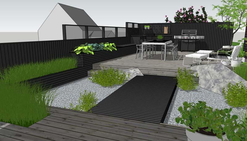 modern tuinontwerp 3d dynamische tuin