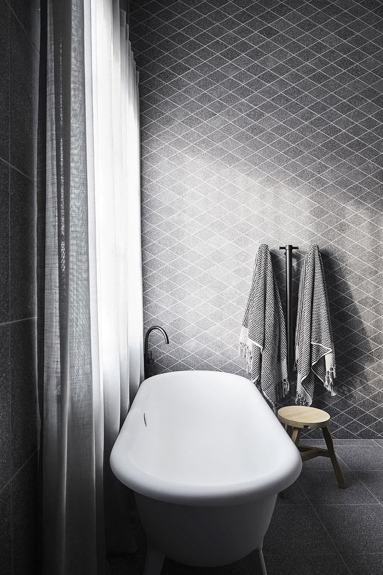 Moderne monochrome badkamer