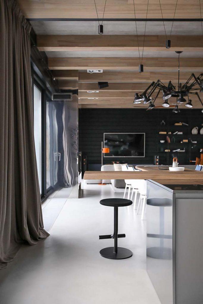 moderne open keuken bar