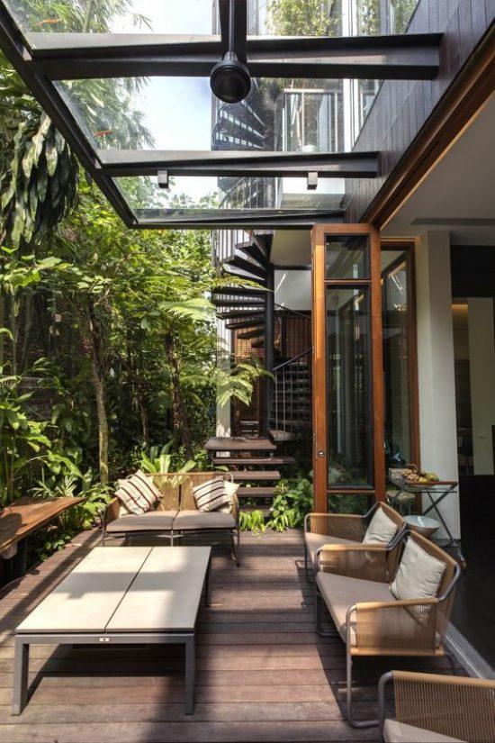 Moderne Overkapping In De Tuin Wooninspiratie