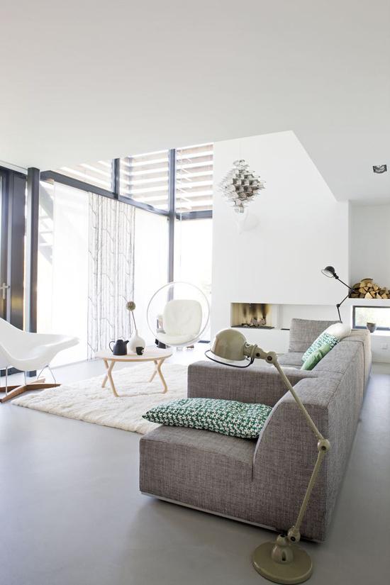 Modulebank voor de grote woonkamer wooninspiratie - Deco grote woonkamer ...