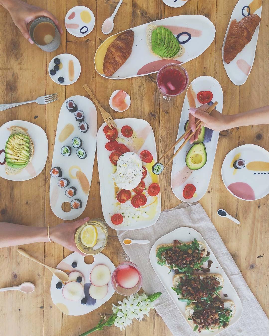 mooi servies gerechten serveren