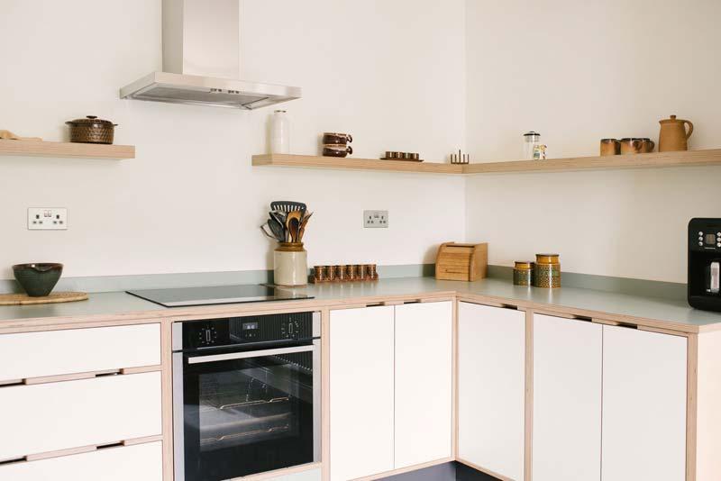 Mooie betonplex keuken