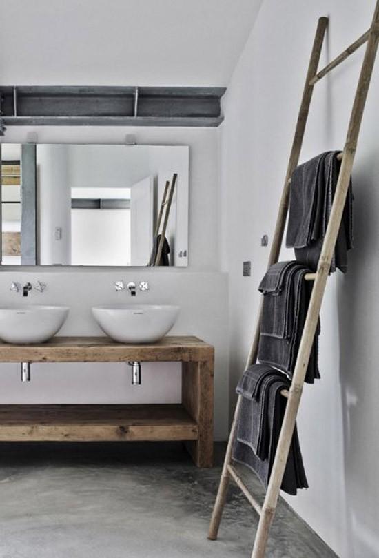 mooie handdoek ladders | wooninspiratie, Badkamer