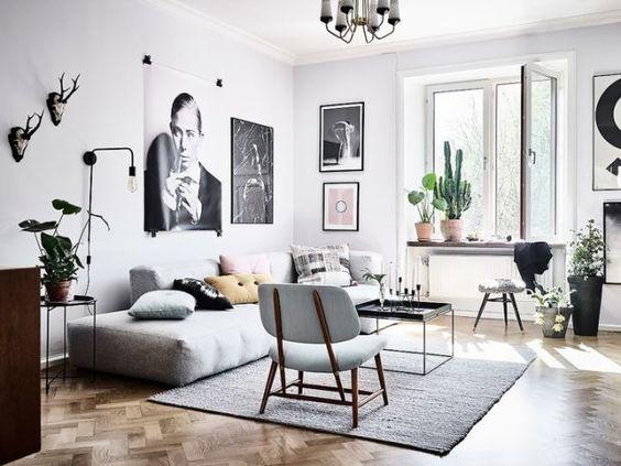 Mooie lijsten in de woonkamer