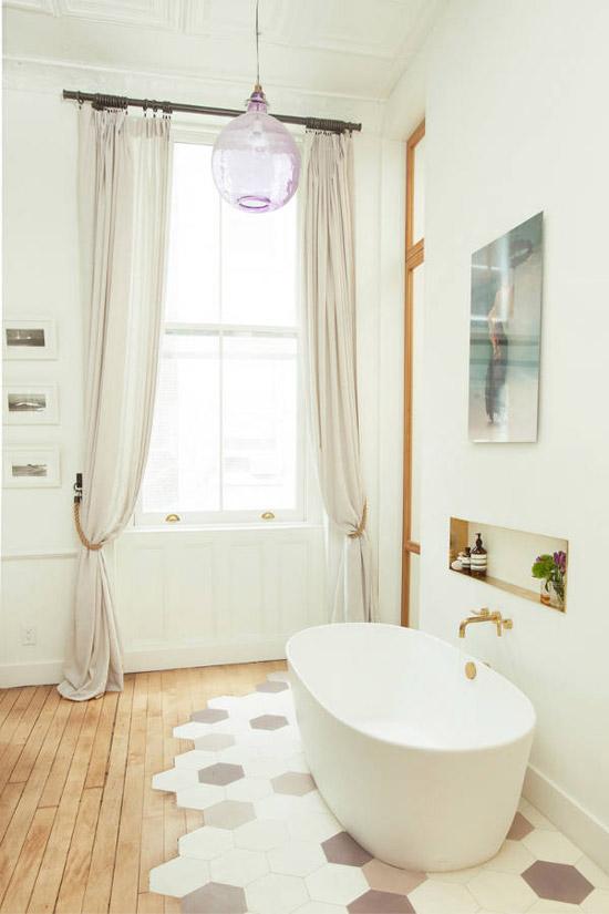 Mooie semi open badkamer | Wooninspiratie