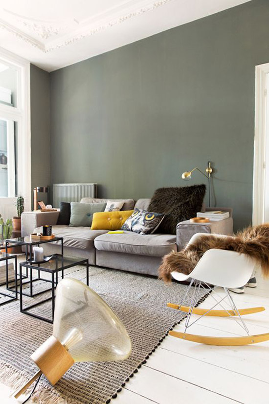 Mooie vloerkleed in de woonkamer wooninspiratie - Kleur verf moderne woonkamer ...