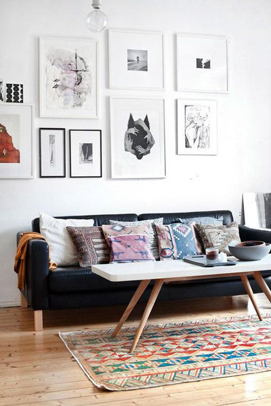 Mooie vloerkleed in de woonkamer