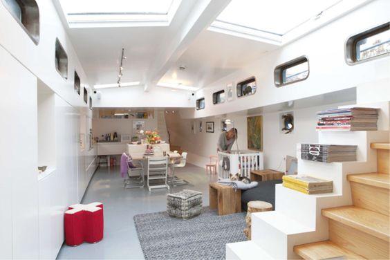 Leuke Woonkamer Ideen : Mooie woonkamer ideeën op een woonboot wooninspiratie