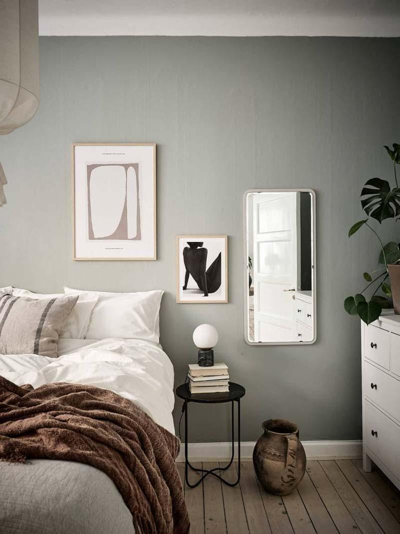 nachtlampje op krukje slaapkamer