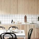 Natuurlijke houten keuken