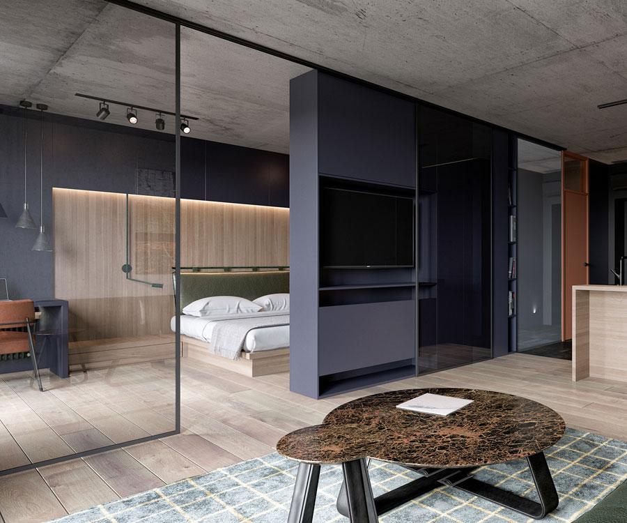 Open indeling kamer groter laten lijken