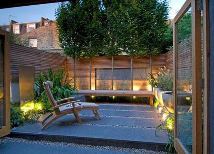 Openslaande deuren kleine tuin