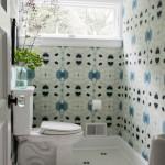 Opvallende tegels in de badkamer